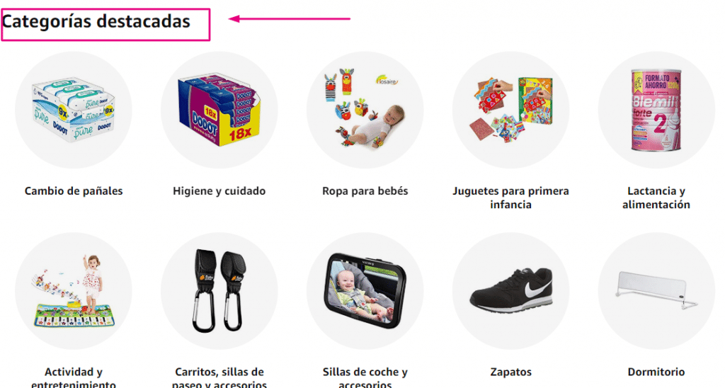 categorias de amazon para buscar nichos