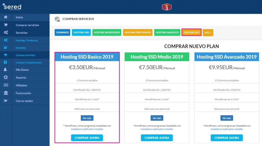 comprando un hosting
