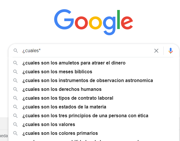 autocompletar de google
