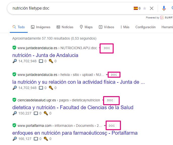 buscar documentos con google