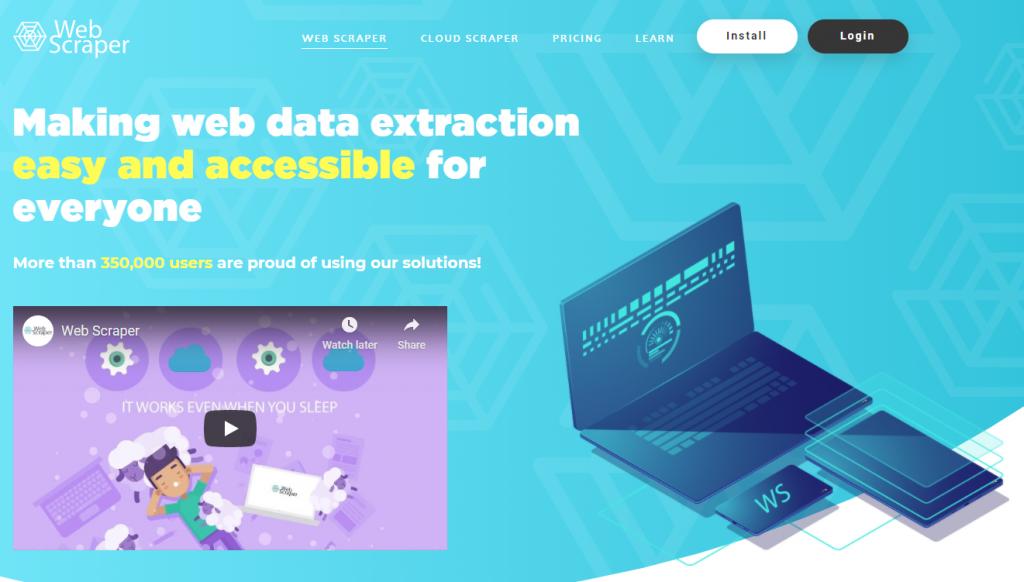 webscraper.io herramienta para scrapear